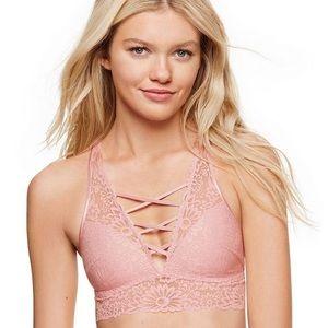 Victoria's Secret PINK Lace Bralette • Criss Cross
